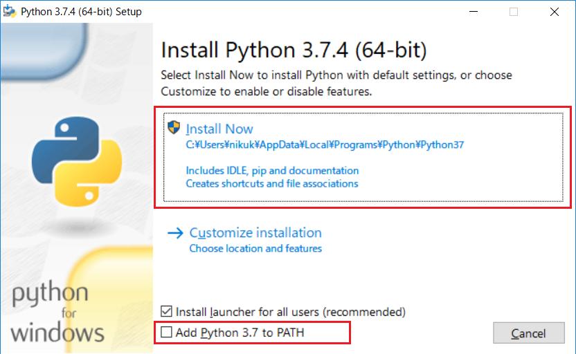 Pythonインストール画面01