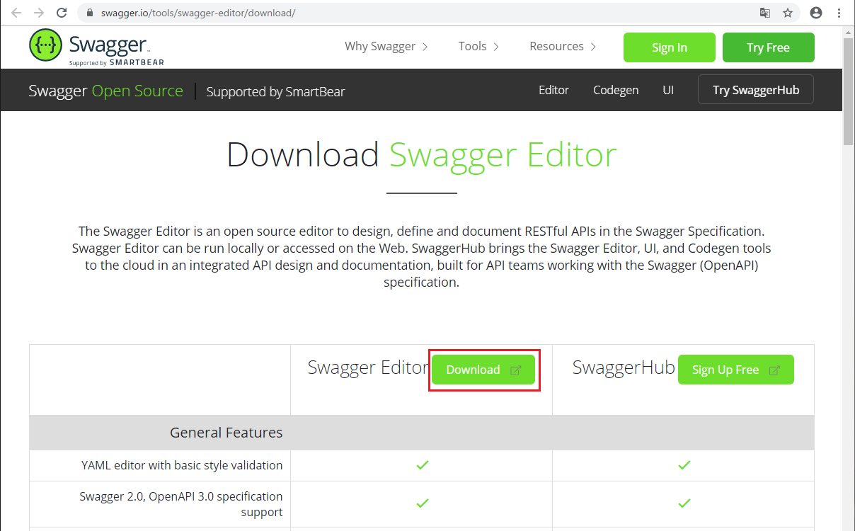 Swagger Editor Install -01