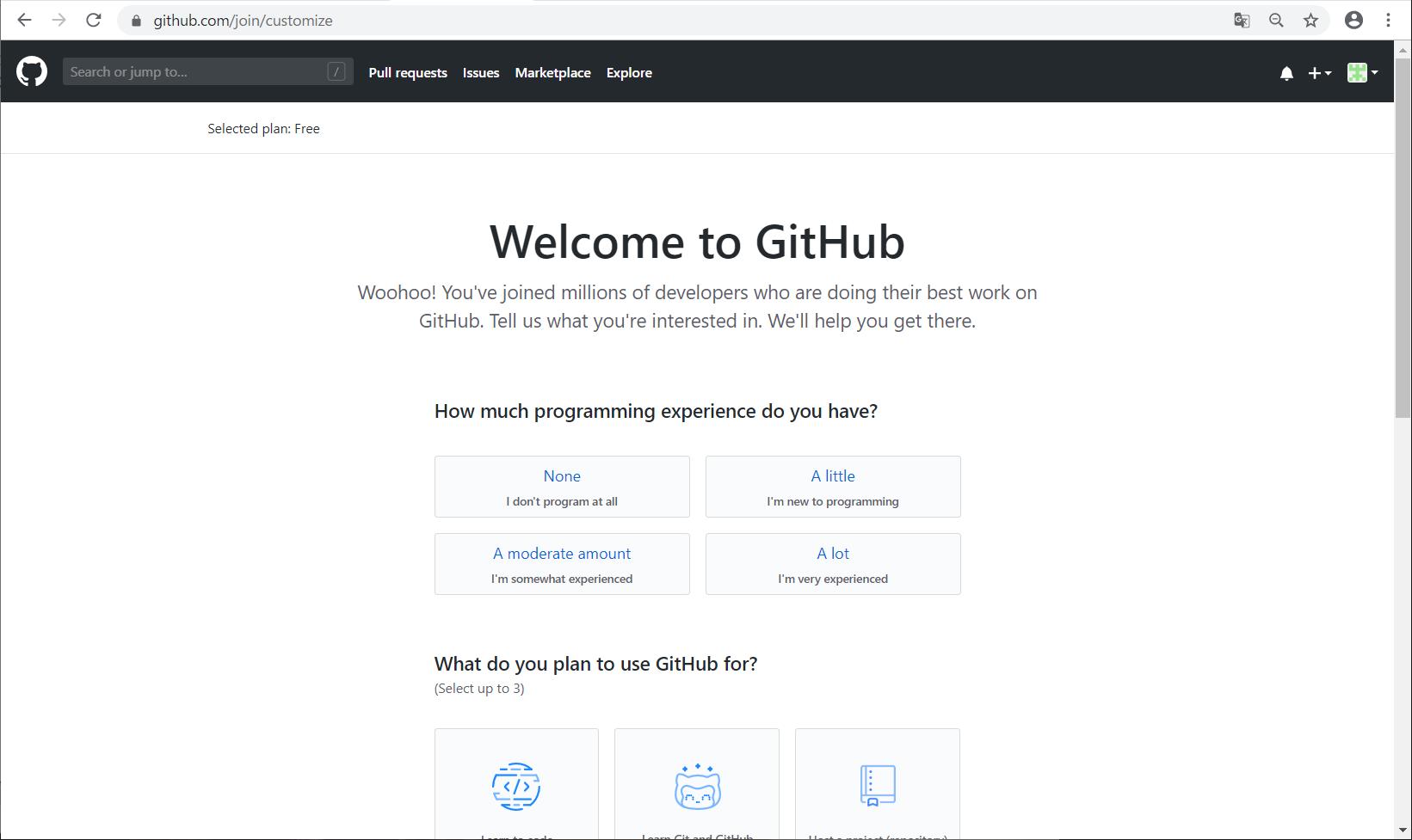 GitHubアカウント登録 -06