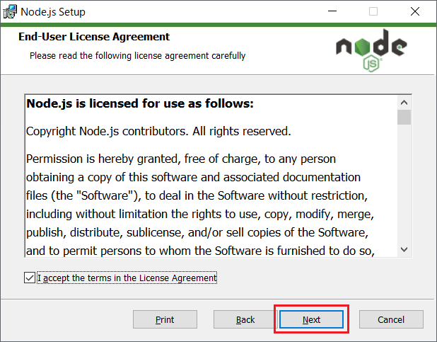 Node.js(npm)のインストール03