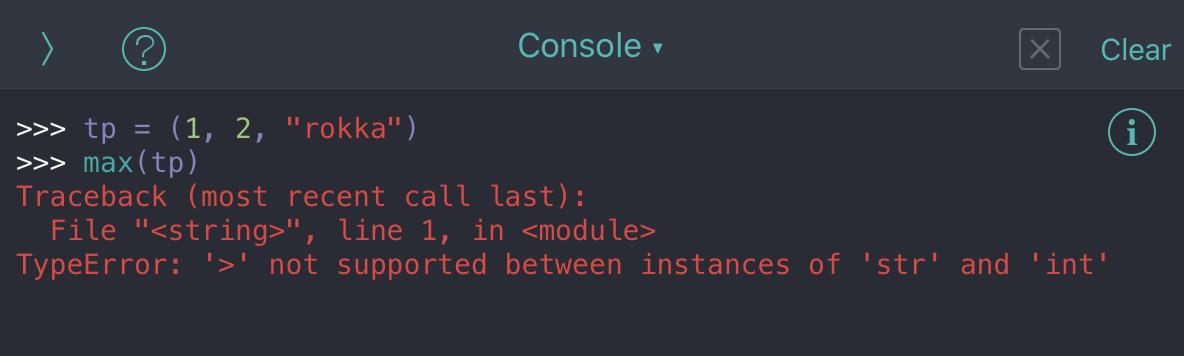 Python tuple no13